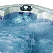 Spa tub with water