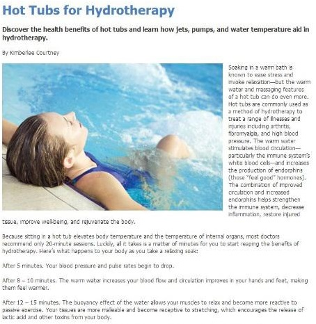 hot tubs for hydrotherapy